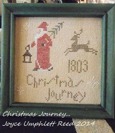 Christmas Journey... primitive pdf cross stitch pattern... instant download
