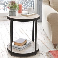 Round Wooden Side Table | Little Sunshine | Loaf