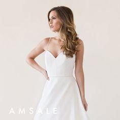 Amsale Rowan Gown Dream Wedding Dresses, Designer Wedding Dresses, Wedding Gowns, Amsale Bridal, Bridal Gowns, Couture Collection, Dress Collection, Bride Look, Bridal Boutique