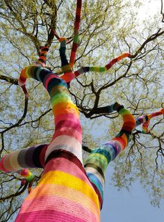 Top 5 Extraordinary Yarn Bombs: Tree by Ute Lennartz-Lembeck