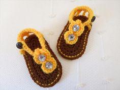 Crochet Baby Gladiator Sandals Pattern | 101 Crochet