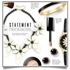 Collared! Statement Necklaces by ewa-naukowicz-wojcik on Polyvore featuring Kate Spade, Bobbi Brown Cosmetics, tarte and statementnecklaces