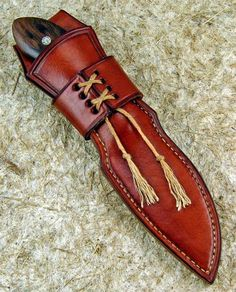 Image result for how to make a leather sheath for a knife