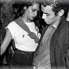 Farida Khelfa and Christian Louboutin at Le Palace