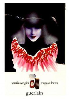Guerlain lipstick and nail polish (1976)