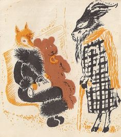 the fox in Russian book illustrations