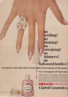 Clariol Cosmetics Nail Color, 1967.