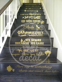 Disney Quotes Stairs Vinyl Decal - Home Decor