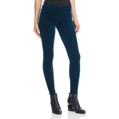J Brand Skinny Velvet Jeans in Emerald ($215) ❤ liked on Polyvore featuring jeans, emerald, velvet skinny jeans, super skinny jeans, skinny leg jeans, skinny fit jeans and blue velvet jeans