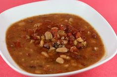 vegetarian calico bean soup - crockpot recipe