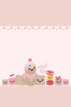 Kawaii sweets iphone wallpaper theme
