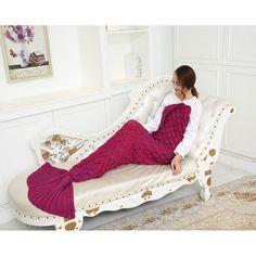 2017 Fashion Mermaid Blanket Of Knitting Imitation Cashmere Mermaid Tail Autumn Winter blanket sofa mat Warm Soft