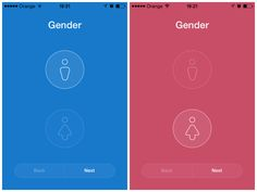 Choosing the gender in making an account in Mi Fit