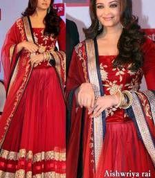 Buy Aishwarya Red Lehenga bollywood-salwar-kameez-online online