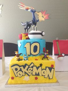Pokemon X/Y cake TLCakes. Brentwood, CA