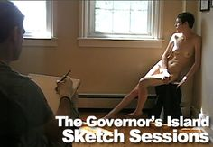 During The Governor's Island Art Fair, TheGreatNude presented several Sketch Sessions in our own exhibition space. Our Life Drawing workshops were open to the viewing public, and visitors were often surprised when they turned the corner to discover nude models posing for artists.