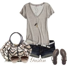 tan t shirt, created by gustinz.polyvore.com