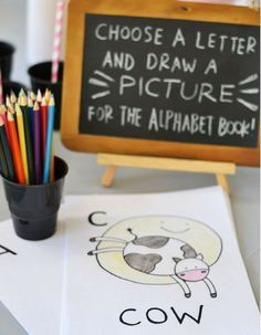 Alphabet Baby Shower Book Custom Coloring Books