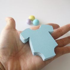 Onesie Die Cut (2.2 inches) Textured Cardstock  Set of  48 Baby Pastel Blue or choose the color  A39 by Mariapalito