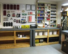 Reloading Room Pics - Page 2 (Diy Bench Press) Reloading Table, Reloading Bench Plans, Reloading Room, Woodworking Bench Plans, Reloading Press, Woodworking Kits, Gun Safe Room, Tool Room, Gun Rooms