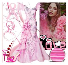 """""""Pink for october"""" by jojona-1 ❤ liked on Polyvore featuring Edie Parker and SJP"""