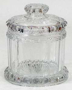 Old ANTIQUE Vintage Glass IMPERIAL TOBACCO Jar CIGAR Humidor