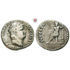 Römische Kaiserzeit, Nero, Denar 66-67, ss+/ss: Nero 54-68. Denar 17 mm 66-67 Rom. Kopf r. mit Lorbeerkranz IMP NERO CAESAR AVGVSTVS… #coins
