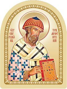 St Spyridon of Trimythous (16 per page), $35.00. Order here: http://bit.ly/2ijgC43 #CatalogOfGoodDeeds #CatalogOfStElisabethConvent #Christian #Christianity #workshop #ourworkshops #StElisabethConventWorkshop #monastery  #orthodox #orthodoxy #church #orthodoxchurch #Saint  #icon #Workshop #Ourworkshops #StElisabethConventWorkshop #monastery #handpaintedm #handmadeitems #forgeditems #ForgedProducts