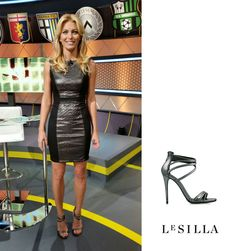 Federica Fontana wearing #lesilla at @Stop & Gol. Discover the sandal at www.lesilla.com