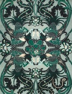 Night Bird - from Catherine Martin's new Great Gatsby inspired Deco Rug Collections - Designer Rugs - Premium Handmade rugs by Australia's leading rug company