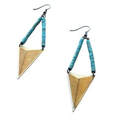 God of Creation Earrings in TURQUOISE
