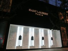 Saint laurent store in shanghai at reel mall retail facade, mall facade, shop facade Saint Laurent Paris, Saint Laurent Store, Design Exterior, Facade Design, Retail Store Design, Retail Shop, Boutiques, Retail Facade, Luxury Store
