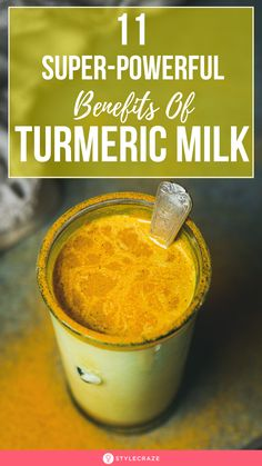 Turmeric Milk: 11 Super-Powerful Benefits Of The Golden Milk: Turmeric milk is a traditional Indian drink that is gaining fame Golden Milk Benefits, Turmeric Milk Benefits, Turmeric Golden Milk, Turmeric Tea, Best Nutrition Food, Health And Nutrition, Health Tips, Proper Nutrition, Nutrition Guide