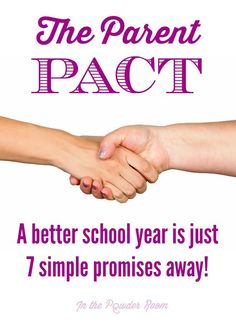 The Parent Pact: A better school year is just 7 simple promises away!