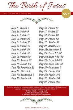 December Reading Plan - The Birth of Jesus [Bible Study] Bible Prayers, Bible Scriptures, Bible Quotes, Jesus Bible, Wisdom Quotes, Bible Study Plans, Bible Study Tools, Elder Holland, Scripture Reading