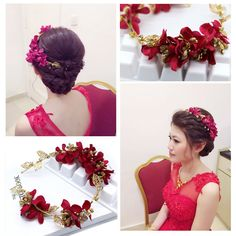 新娘發箍頭飾 結婚首飾紅色發飾複古巴洛克串珠花朵頭飾禮服配飾-淘寶台灣,萬能的淘寶