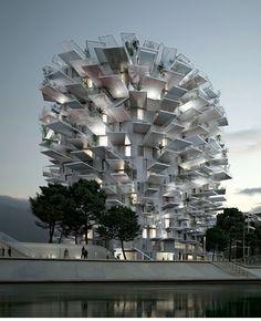 Sou Fujimoto / NL*A / OXO, torre en Montpellier (Francia)