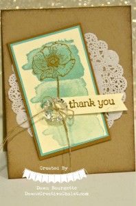 Happy Watercolor Stamp Set, Gold Embossed