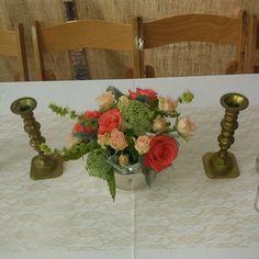 table centerpiece by Flower Bar. #atlantaflorist #atlantawedding atlantaflowerbar.com Table Centerpieces, Table Decorations, Flower Bar, Cake Flowers, Atlanta Wedding, Wedding Flowers, Reception, Instagram Posts, Home Decor