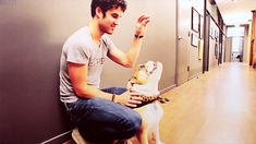 They all equal happiness. | 31 GIFs Of Hot Guys Cuddling Puppies To Make You Smile