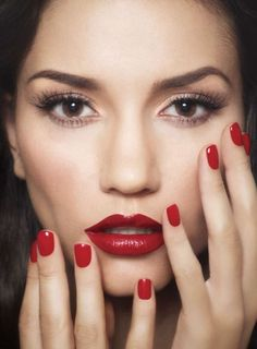 best brunette red lip makeup - Google Search