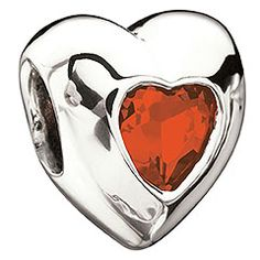 Heart- July Birthstone (Ruby)