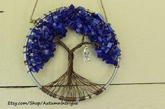 Colon Cancer Awareness DARK BLUE Tree of Life by AutumnIntrigue, $36.00 #coloncancer