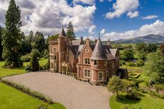 Savills - Edinburgh present this 13 bedroom detached house for sale in The Gart, Callander, Perthshire, Scottish Castles, English Castles, Sustainable Architecture, Pavilion Architecture, Residential Architecture, Contemporary Architecture, Dream Properties, English Tudor, Unusual Homes