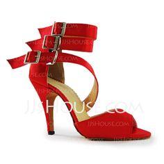 Satin Heels Sandals Latin Dance Shoes (053011485)