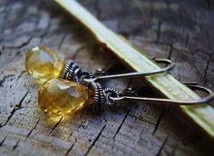 Coiled Citrine Earrings,Karen Gilbert designs