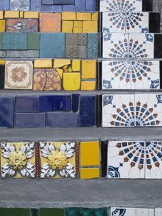 stair tiles rio de janeiro  - I like the way Moroccan tile has been incorporated into something funky and modern