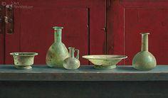Henk Helmantel - Romeins glas voor rode kast 1