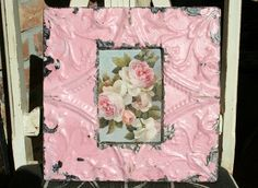 Genuine Antique Ceiling Tin Picture Frame   by VINTAGEHOMEACCENTS, $36.99