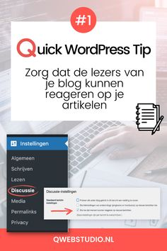 Zorg dat de lezers van je blog kunnen reageren op je artikelen... Online Marketing, Wordpress, Website, Blog, Stuff Stuff, Blogging